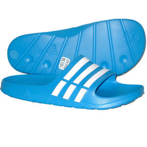 View Item Adidas Duramo Slide Sandals Flip Flops Beach Shoes Blue/White Mens Size
