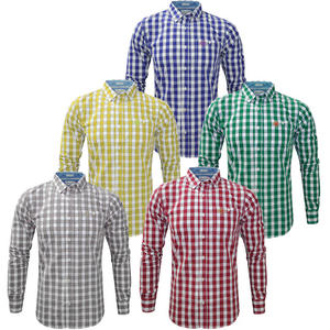 View Item Crosshatch Palmcroft Check Long Sleeve Classic Fit Casual Shirt Mens Size S-XL