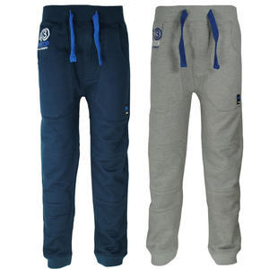 View Item Crosshatch Marine Cuffed Fleece Jogging Bottoms Trousers Boys Size 6-14 Years