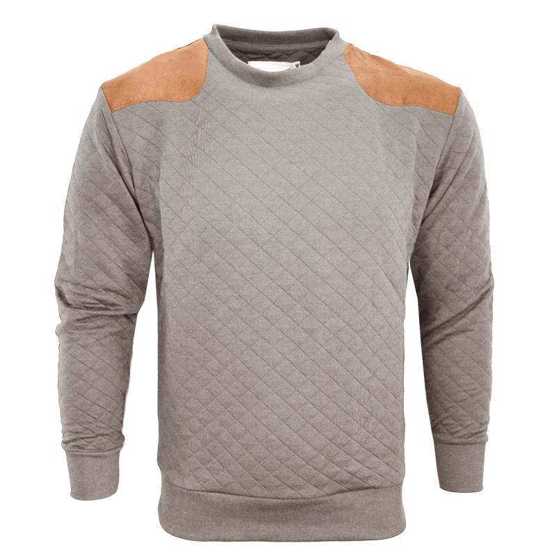 herren sweatshirt top mit schulter ellenbogen wildleder. Black Bedroom Furniture Sets. Home Design Ideas