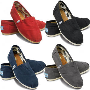 View Item Toms Classic Espadrills Canvas Pumps Trainers Flats Womens Size