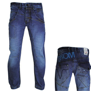 View Item Venom Viper Regular Fit Cargo Pocket Blue Mid Wash Jeans Mens Waist Size