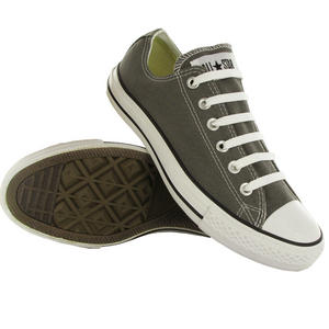 View Item Converse All Star OX Low Canvas Pumps Trainers Shoes Grey/White Size