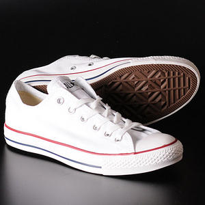 Converse All Star OX Low Canvas Pumps Trainers Shoes White/Red Size