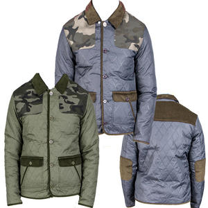 View Item D-Struct Feltham Quilted Camo Shoulder/Elbow Patch Jacket Coat Mens Size S-XXL