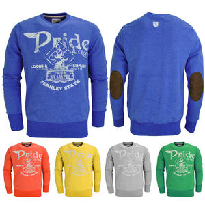 View Item Crosshatch Chadron Pride Glory Print Elbow Patch Sweatshirt Jumper Top Mens Size