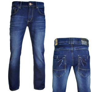 View Item Crosshatch Bergen Straight Leg Dark Wash Blue Jeans Mens Waist Size W30-W38
