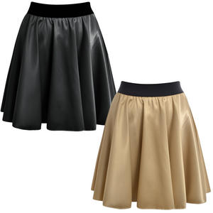 View Item High Waisted Womens Satin Skater Skirt