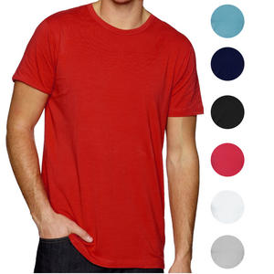 Raiken Basic Plain Regular Fit Crew Neck Short Sleeve T-Shirt Mens Size S - XXL