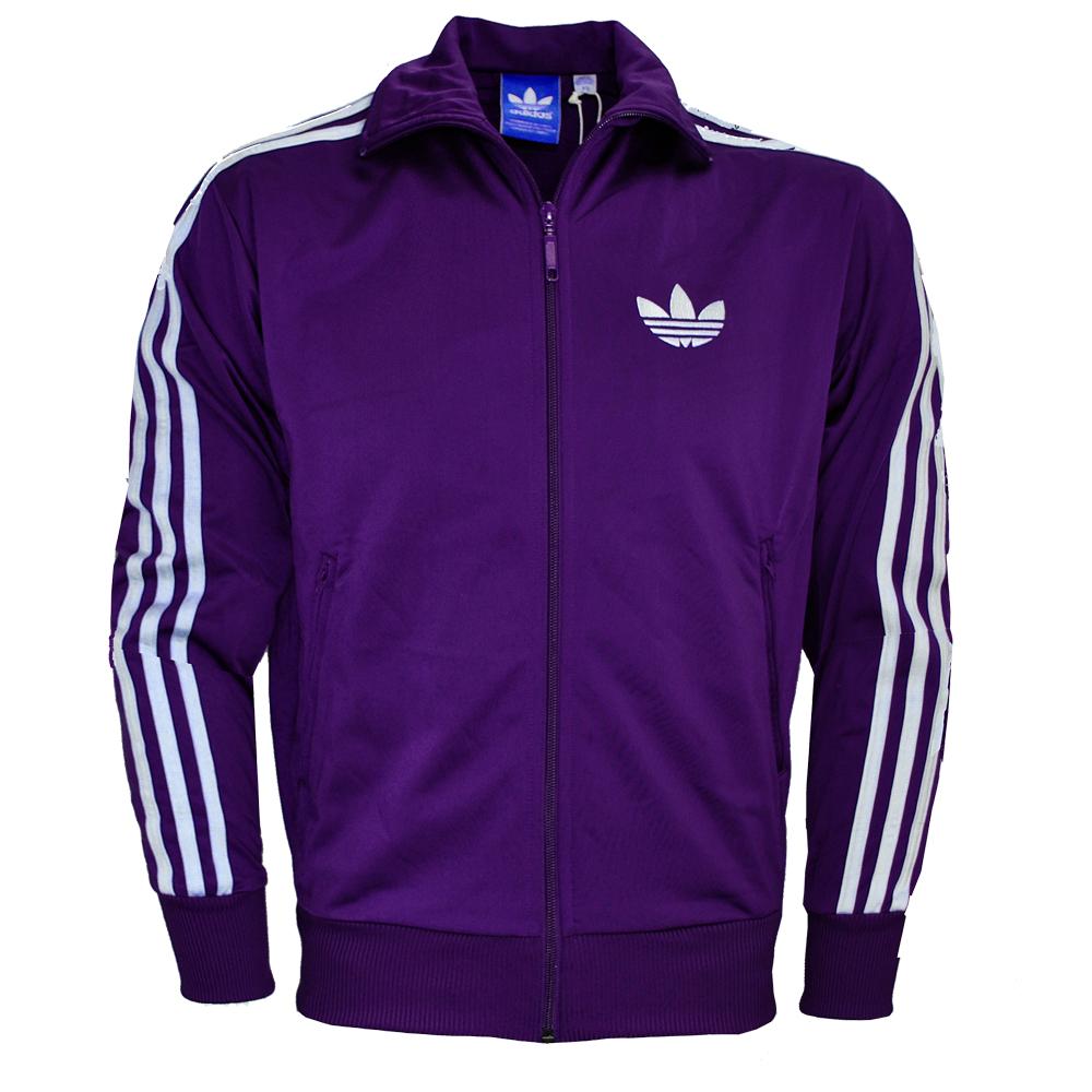adidas originals firebird sweatshirt zipped track top purple jacket mens size ebay. Black Bedroom Furniture Sets. Home Design Ideas
