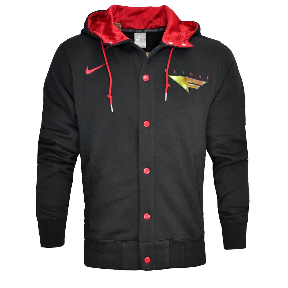 jacke nike flight fleece kapuze sweatshirt top herren schwarz rot ebay. Black Bedroom Furniture Sets. Home Design Ideas