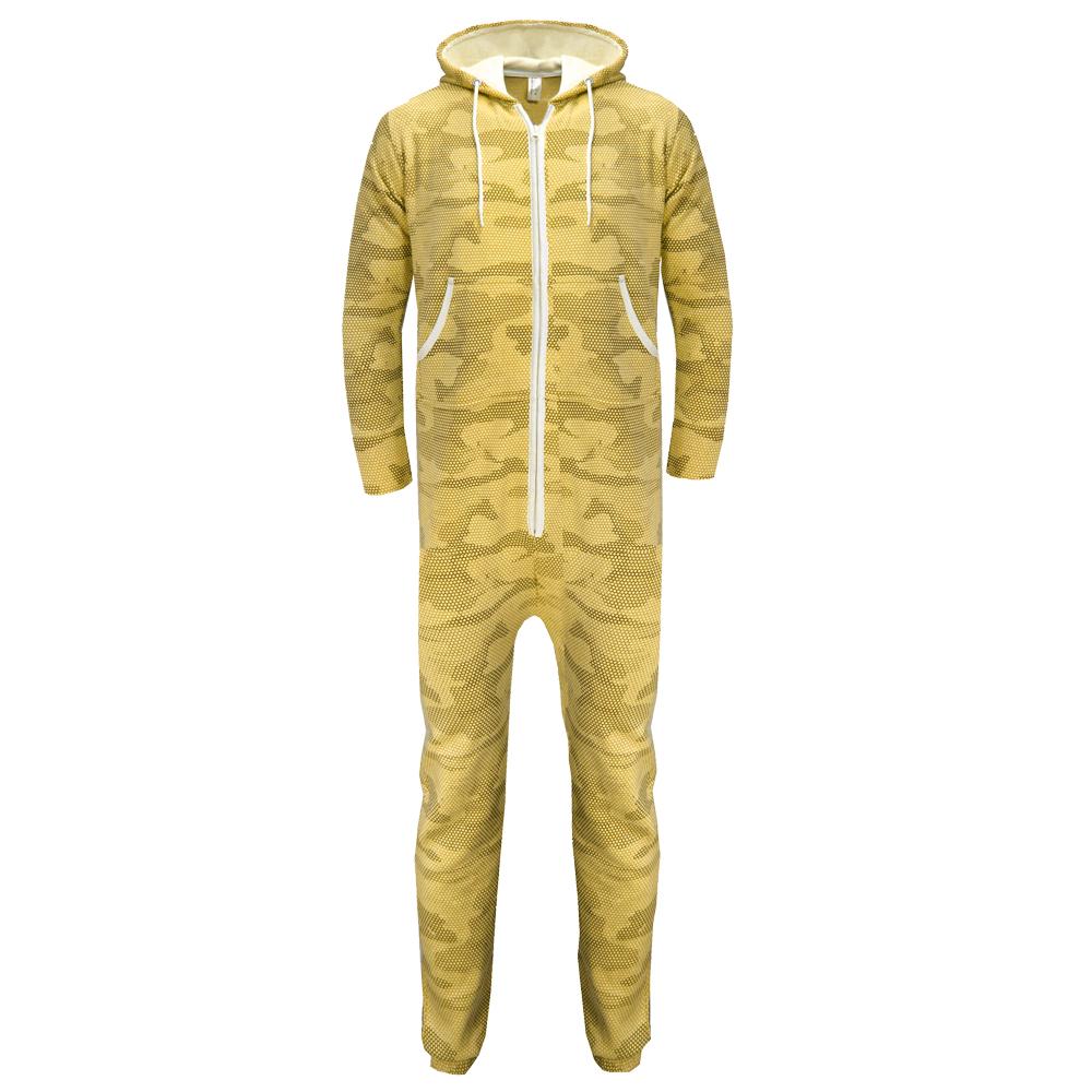 Camouflage-Snake-Print-Unisex-Fleece-Mens-Womens-Hooded-Adults-Onesie-Jumpsuit