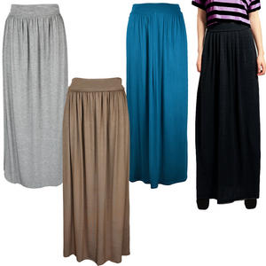 View Item Long Boho Womens Fold Over Gypsy Maxi Skirt
