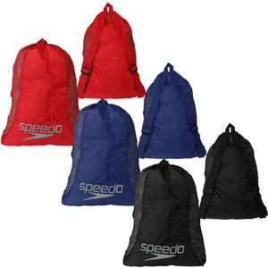 View Item Speedo Deluxe Mesh Pool Gear Lightweight Gym Sports Swimming Equipment Bag