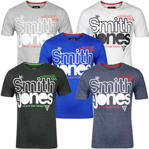 Smith & Jones Alaricus Graphic Print Crew Neck Marl T-Shirt Mens Size S-XL