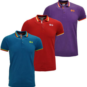 View Item Crosshatch Excels Logo Triple Tipped Pique Polo T-Shirt Mens Size S-XXL
