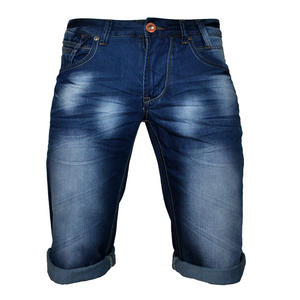 Crosshatch Moonraker Blue Denim Shorts Mens