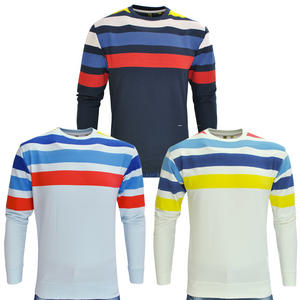 Raiken Spring Striped Crewneck Sweatshirt Mens