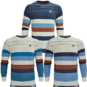 Raiken Parkin Striped Knitted Jumper Mens