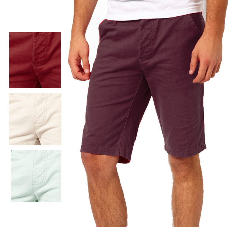 Bellfield Tailor Fitted Soft Denim Chino Summer Shorts Mens Waist ...
