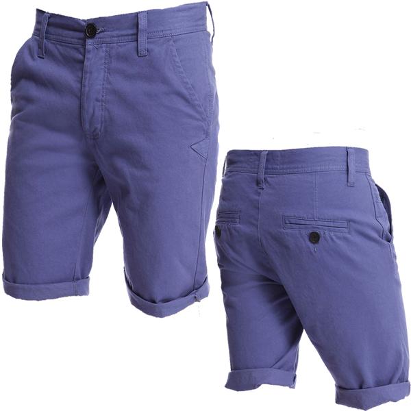 Bellfield Tailor Fitted Soft Denim Chino Summer Shorts Mens Waist ...