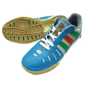 View Item Adidas Top Sala Football Trainers Blue/Green/White Junior Boys Size