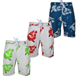 Crosshatch Hawaiian Print Summer Shorts Mens