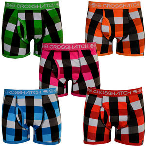 View Item Crosshatch Checkin Mens Boxer Shorts