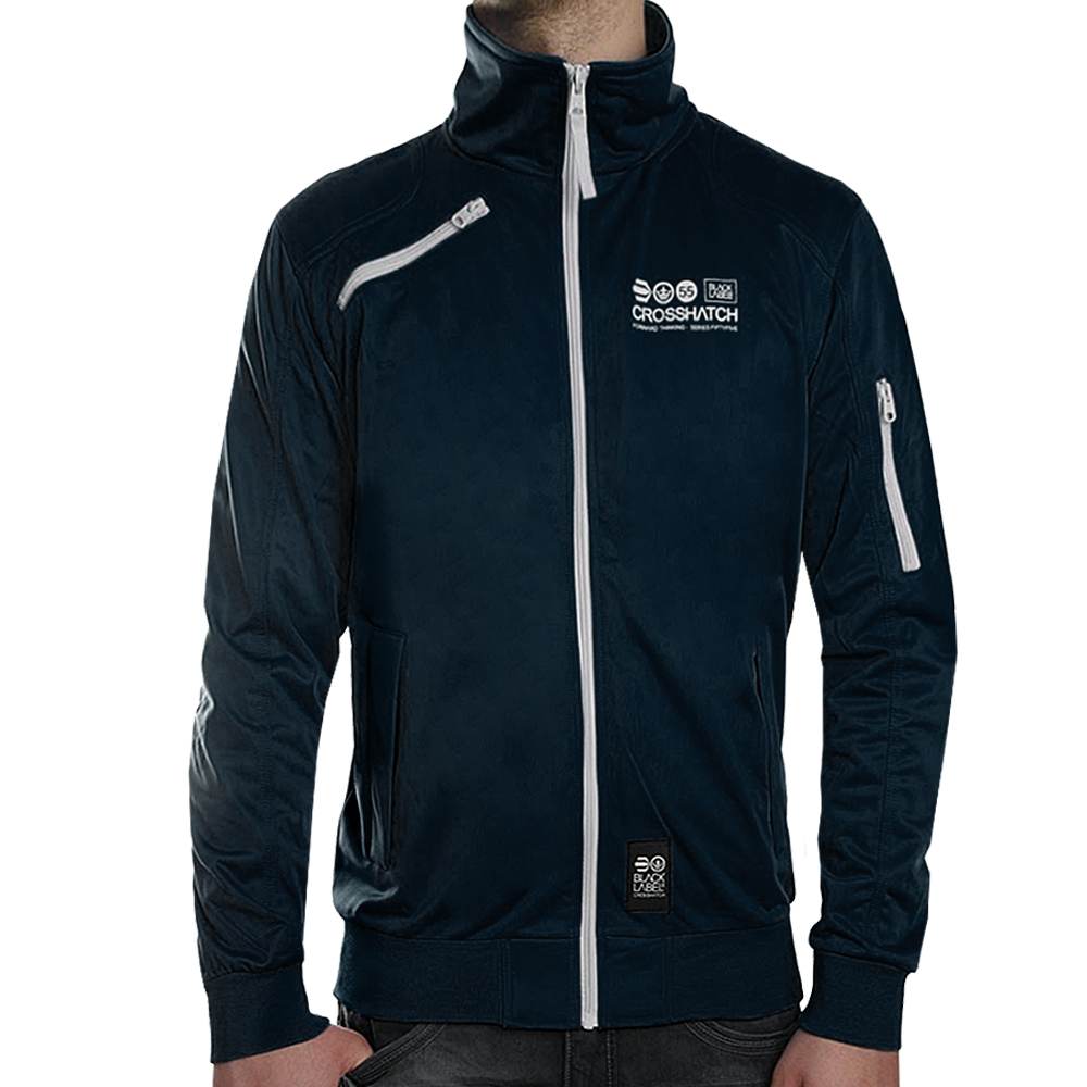 Crosshatch pinewood full zip through sweat track top for How to not sweat through a shirt