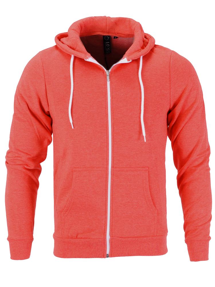 Raiken-Apparel-Flex-Fleece-Full-Zip-Hoody-Hooded-Top-Hoodie-Mens-Size-XS-to-3XL