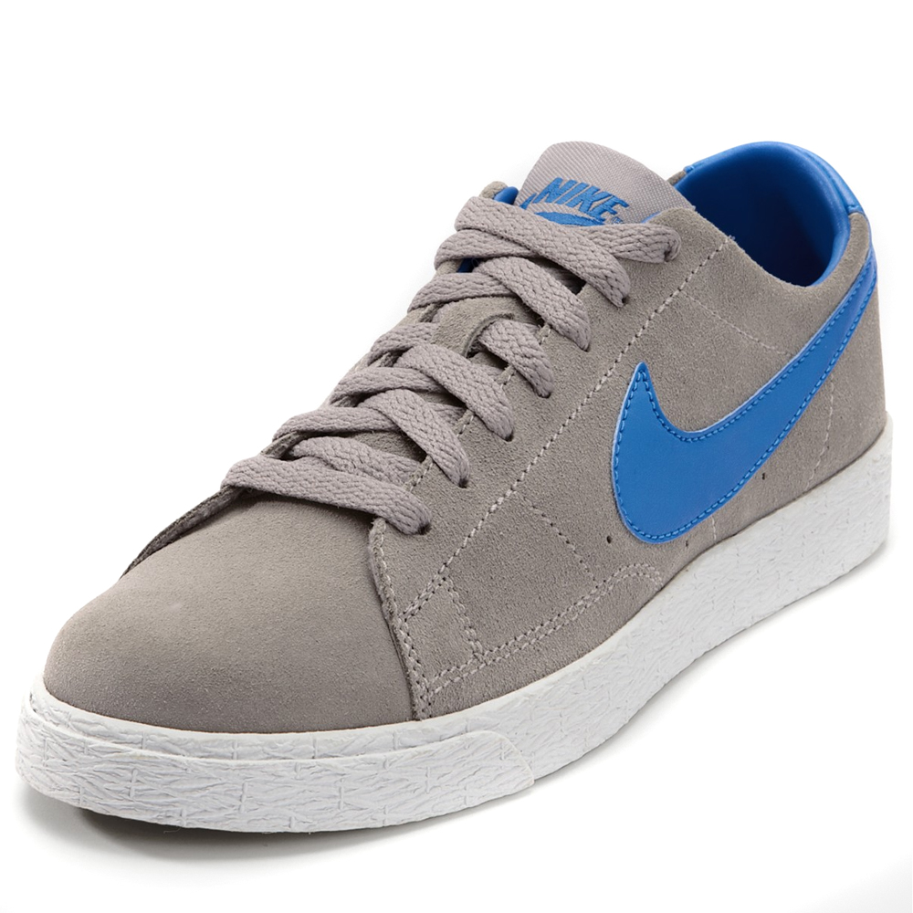 Nike Blazer Low Sports Trainers Shoes Grey/Blue Infant ...