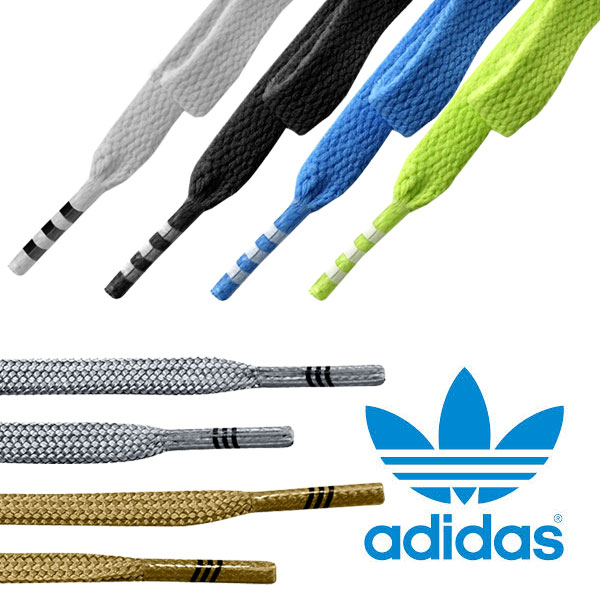 Black And Pink And Blue Shoe Laces Adidas