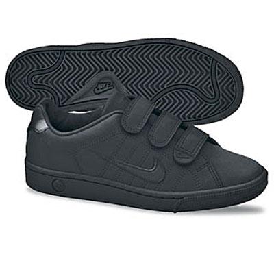 Nike Velcro Shoes on Nike Court Tradition V 2 Trainers Black Junior Boys  Ebay