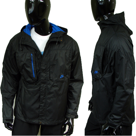 Nike-Clima-Fit-Full-Zip-Trigger-Hooded-Jacket-Black-Blue-Mens-Size