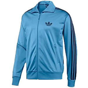 Adidas Adicolor Firebird Zipper Track Top Jacket Sky-Blue/Navy Mens Size