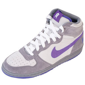 View Item Nike Big High Basketball Trainers Grey/Purple Mens Size