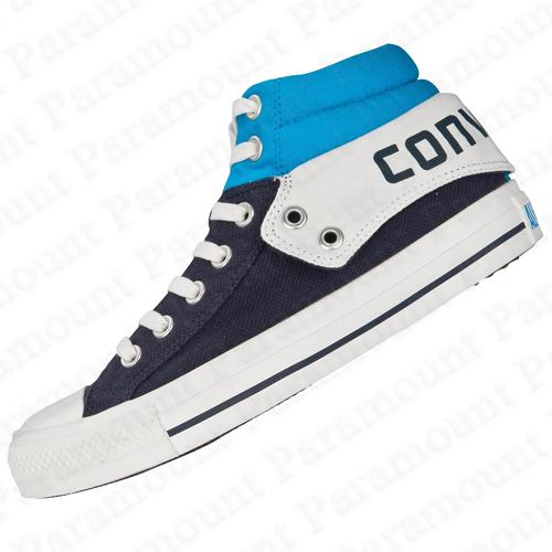 Converse CT Padded Collar 2 Mid Canvas Trainers Navy-Blue/White Mens Size Enlarged Preview