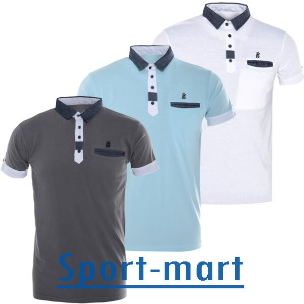 Soulstar hacienda contrast collar polo t shirts mens size for T shirt sprüche m nner