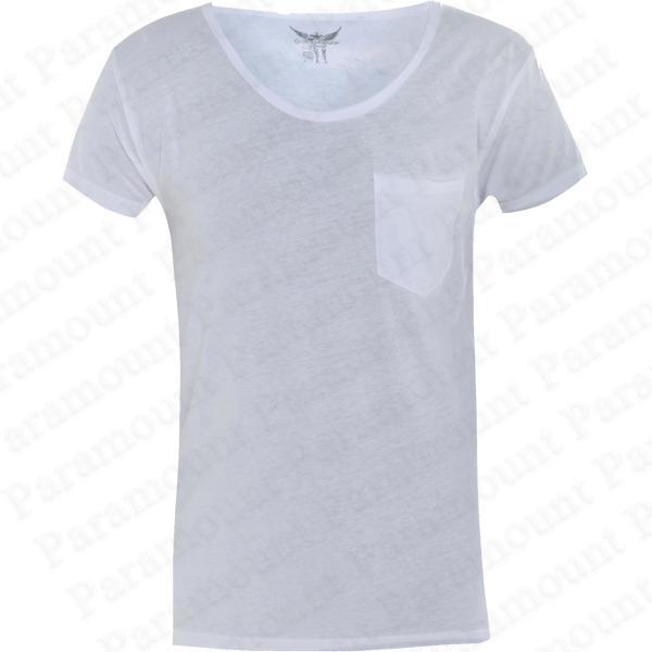 Soulstar-Vegetarian-Raw-Cut-Layered-Scoop-Neck-T-Shirt-Mens-Size