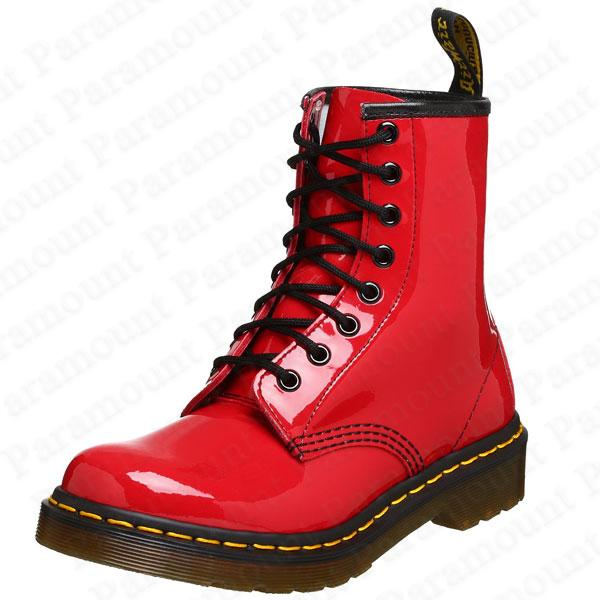 8 eyelet air wair dr doc martens 1460w patent leather boots. Black Bedroom Furniture Sets. Home Design Ideas