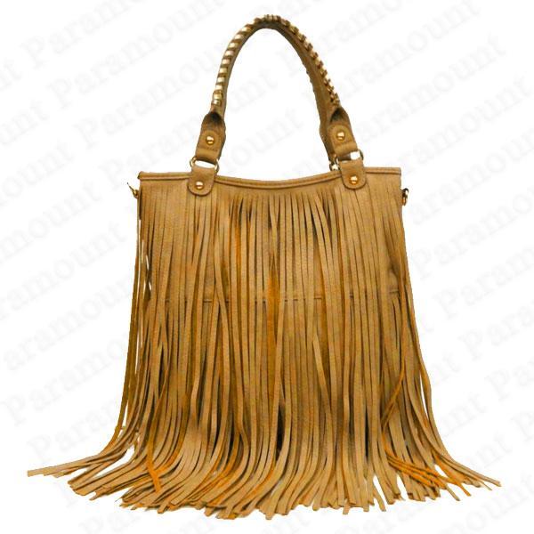 Double Tassel Boho Designer Fringe Shoulder Bag Womens