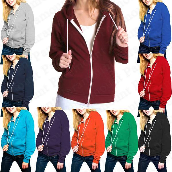 Raiken-Apparel-Flex-Zip-Hooded-Fleece-Tops-Jumper-Hoodie-Womens-Size-8-20