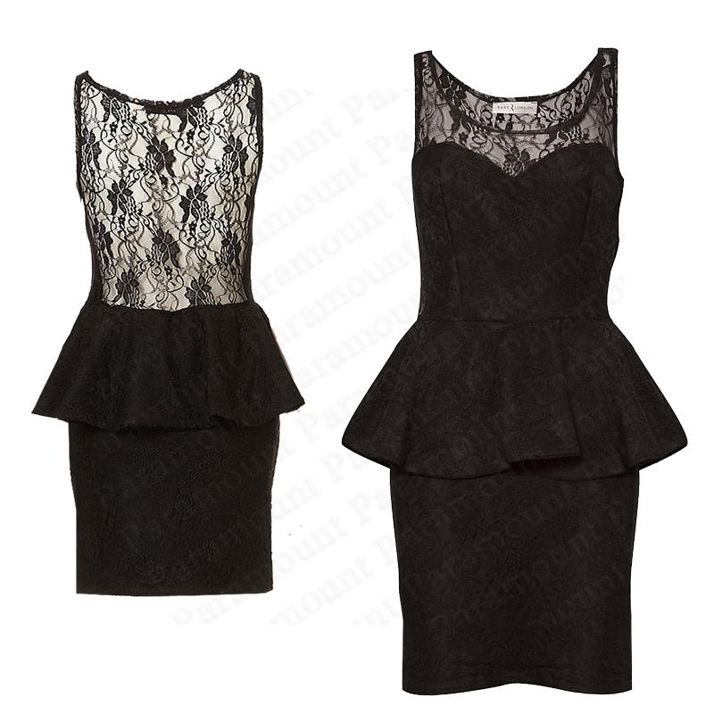Details about Lace Peplum Rare Sweetheart Scoop Bodycon Sleeveless