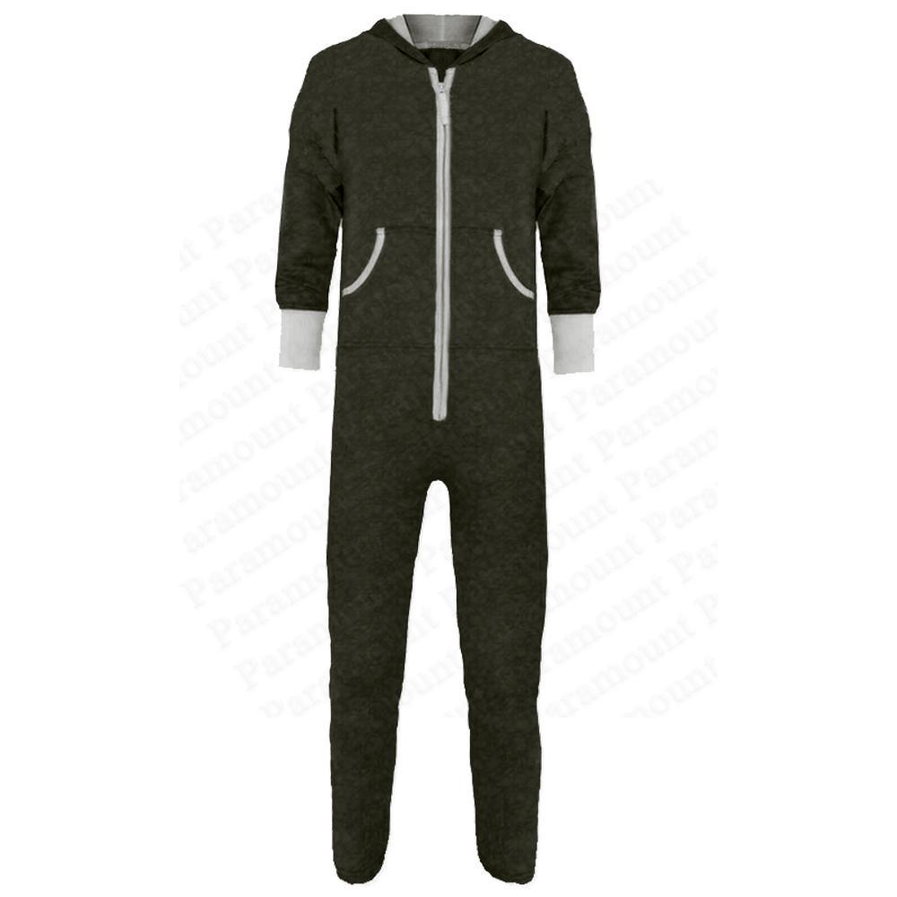 overall damen kapuze alles in einem rei verschluss einfarbig pyjama jumpsuit ebay. Black Bedroom Furniture Sets. Home Design Ideas