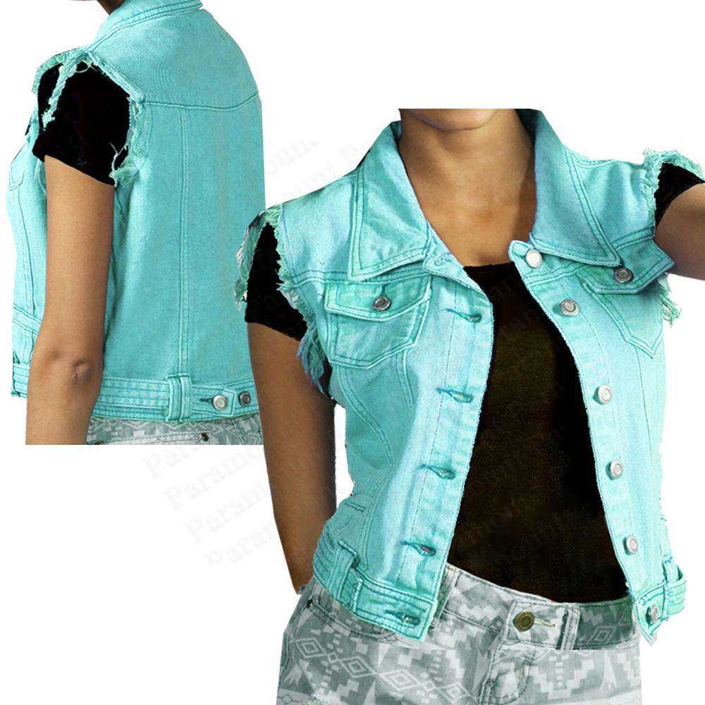 Frayed-Edge-Acid-Wash-Coloured-Denim-Jean-Gilet-Sleeveless-Jacket