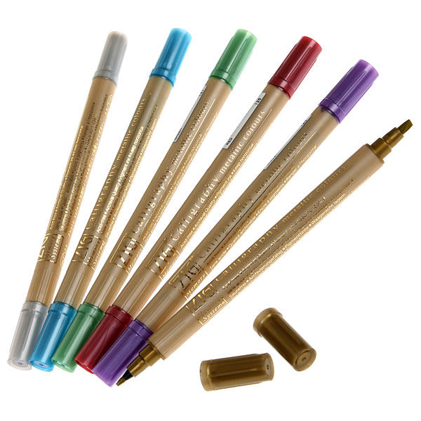 Zig Memory System Calligraphy Marker Pens Metallics
