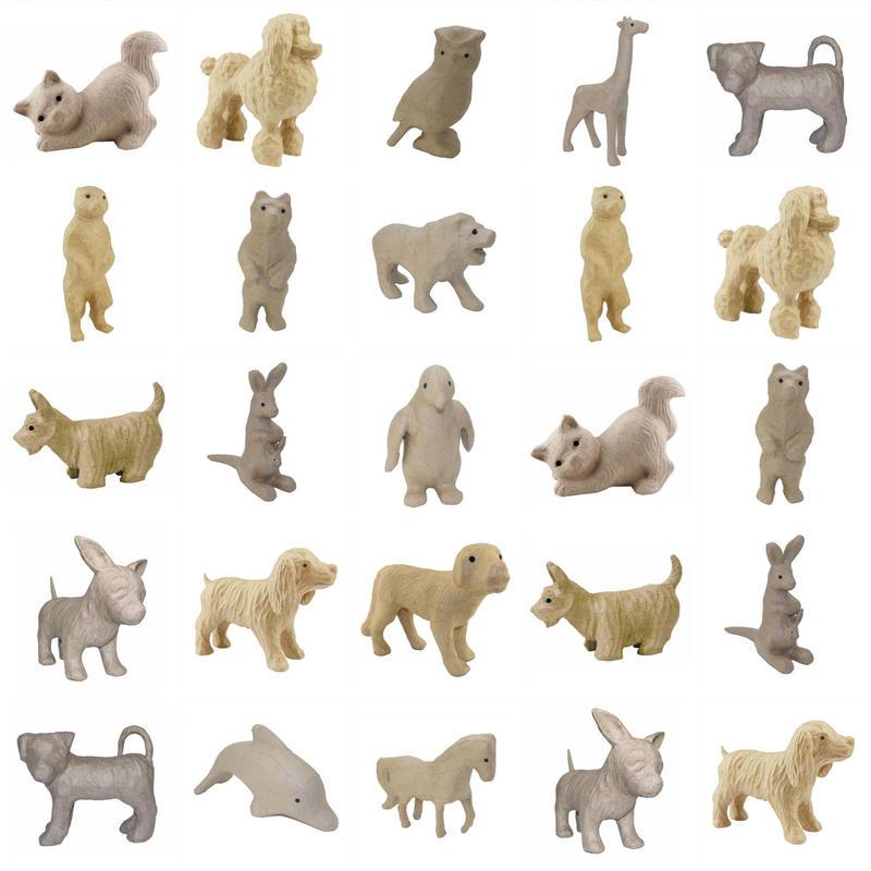 View Item Decopatch Decoupage Papier Mache Animals Small Range