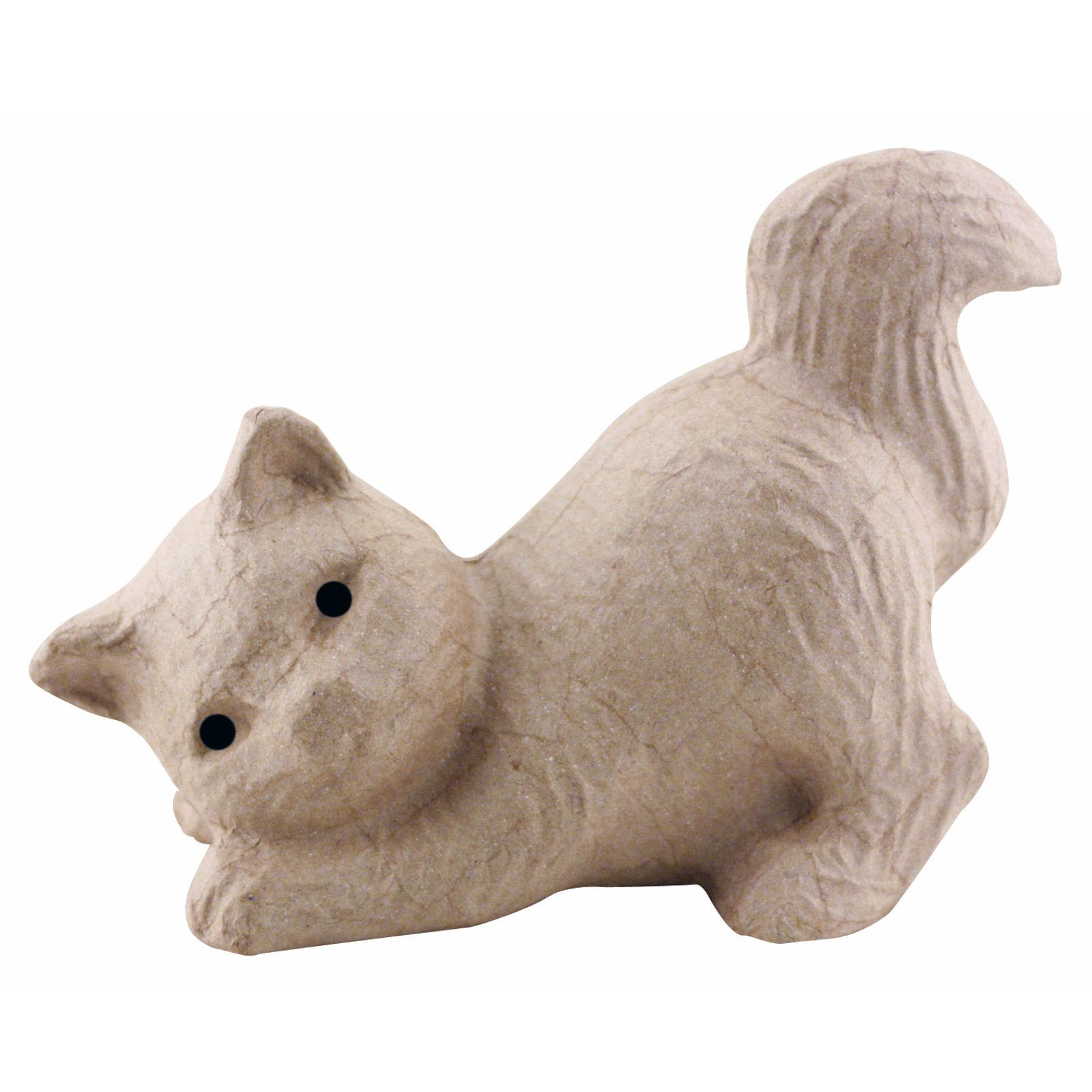 Decopatch sa115 decoupage papier mache animal pensive cat for Decopatch papier
