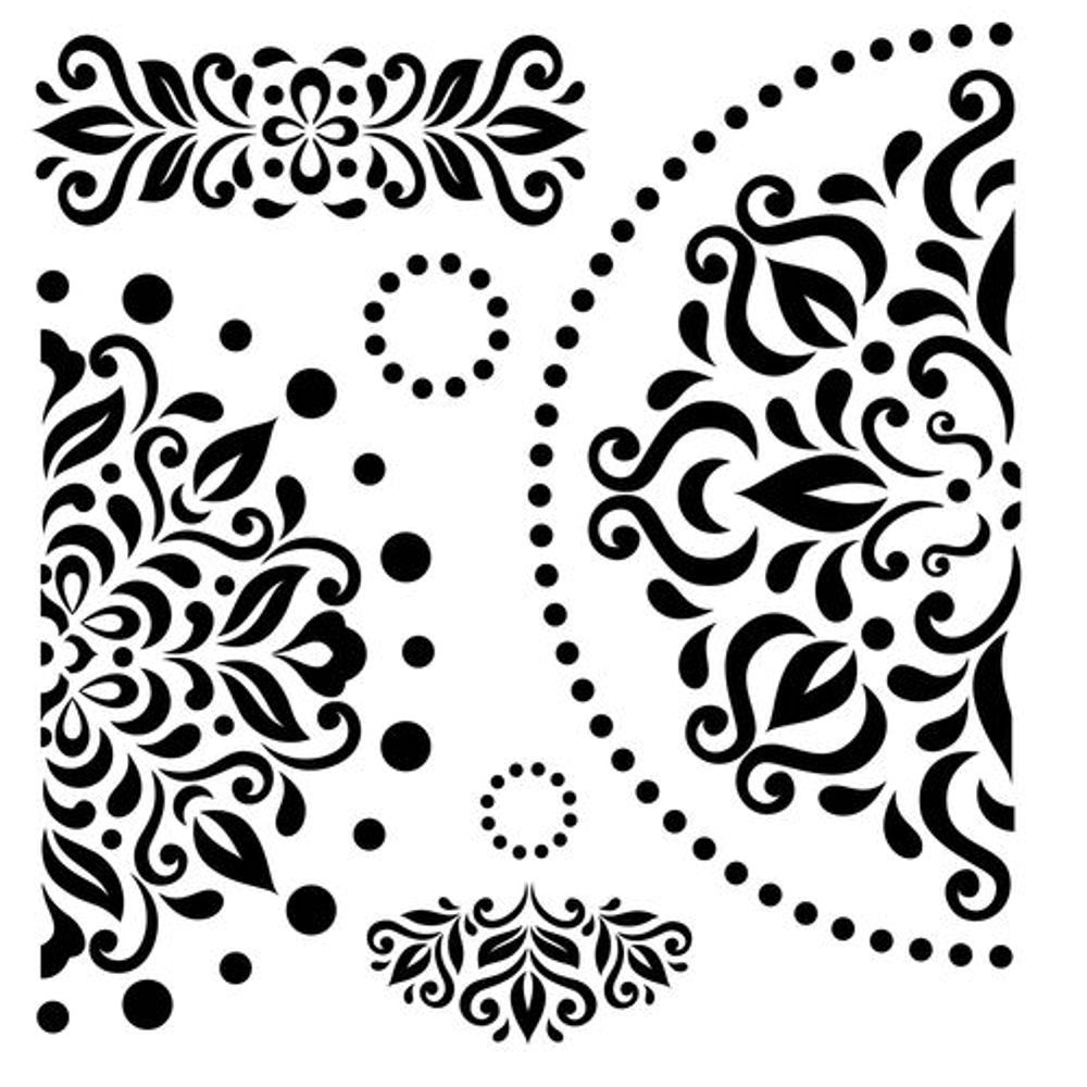 Scrapberry's Mask Art Stencil 15cm x 15cm