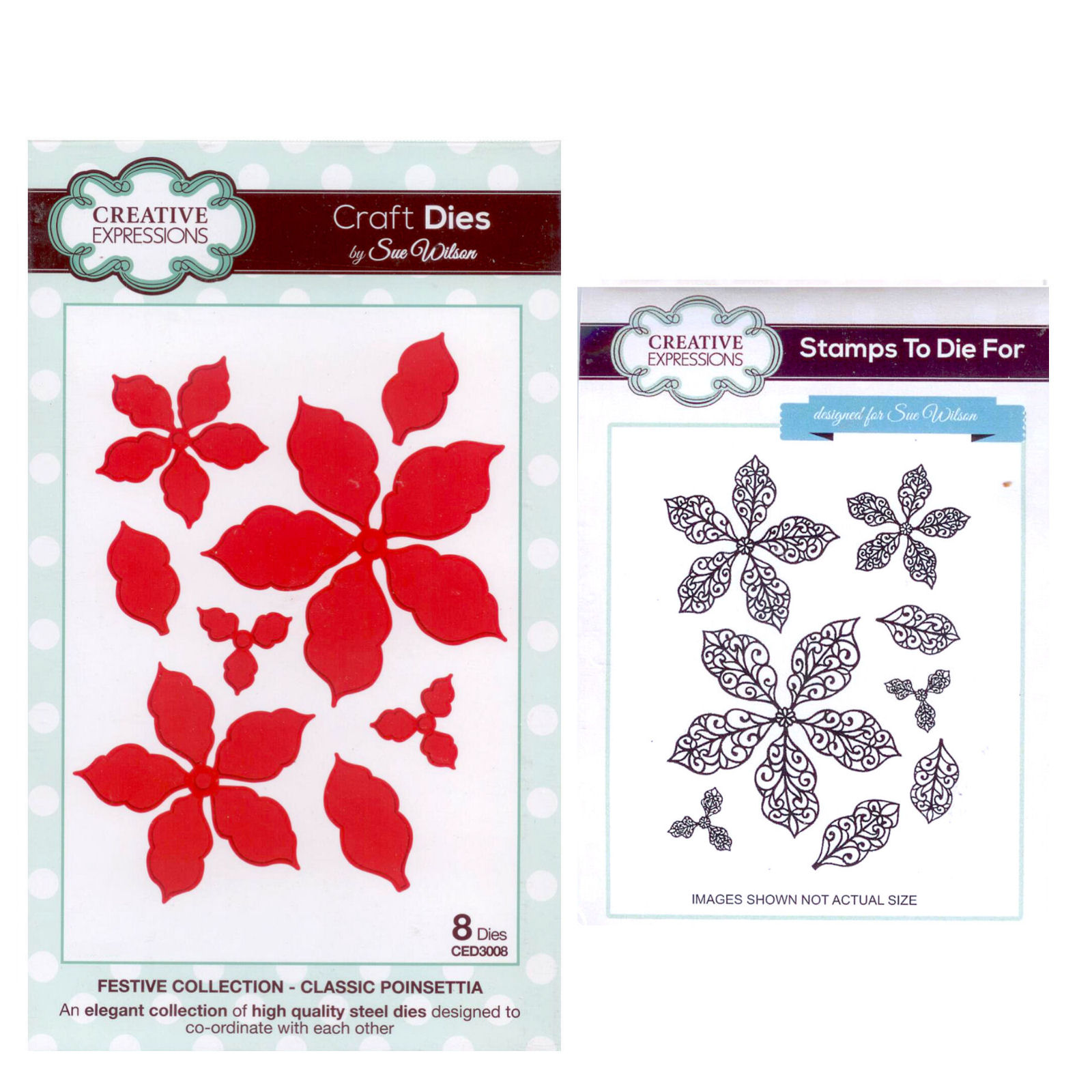 Sue Wilson Craft Die And Matching Rubber Stamp Set